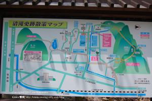 清滝史跡散策マップ