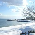 11 北小松 (4) 雪の日の琵琶湖(北小松漁港付近)