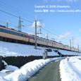 15 近江高島駅付近  特急雷鳥、雪原を行く