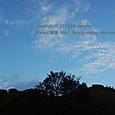 46 滋賀の里山から (23) 秋の日暮れ時、蒼い空