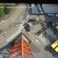 2011.08.12up<br/>2010年夏、東京にて(02-2) 東京タワーの足?と駐車場、上から見た「はとバス」