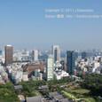 2011.08.14up<br/>2010年夏、東京にて(03-4) 増上寺、レインボーブリッジとお台場方面