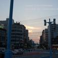 2011.08.16up<br/>2010年夏、東京にて(04-3) 駒形橋西詰交差点の夕暮れ