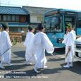 献饌供御人行列(14-02) 湖族の郷資料館前に到着