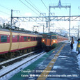 2010.02.06up 2010.12.20up Station/駅118 志賀駅6 特急雷鳥通過、113系入線