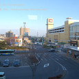 2011.04.03up Station/駅137 堅田駅100 JR車内から撮影した堅田駅前
