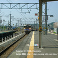 2008.11.02up Station/駅062 堅田駅56 JR113系入線