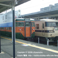 2008.11.13up Station/駅068 堅田駅62 JR113系(湘南色)と117系