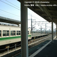2008.11.17up Station/駅072 堅田駅66 JR117系(福知山色)と223系
