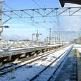 2009.12.28up Station/駅113 堅田駅85 雪の堅田駅と比良山系