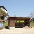 123 2011.04.14up 堅田周辺の町/Towns around Katata 032 ゲートボール場と菜の花