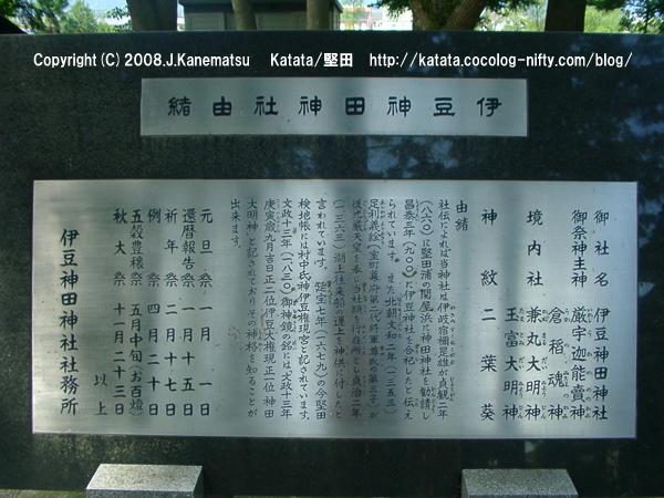 伊豆神田神社の由緒