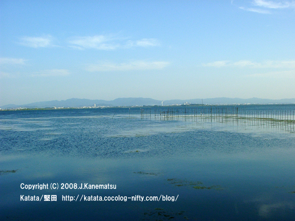 青々とした琵琶湖
