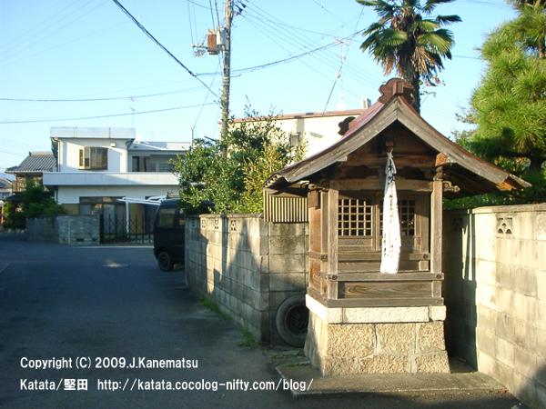 閑静な住宅街の中に地蔵堂