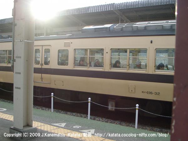 3月の堅田駅と117系