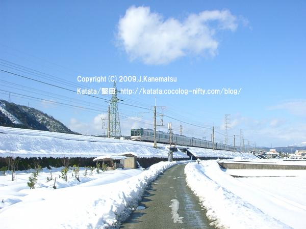 近江高島駅付近と223系