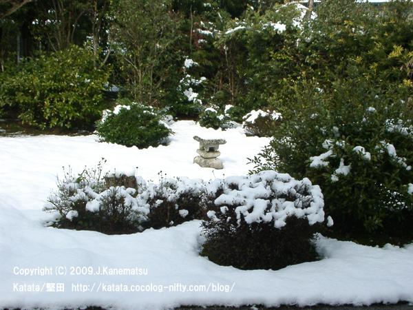 雪の祥瑞寺の境内
