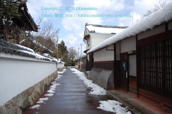 雪の日の路地(本堅田)3