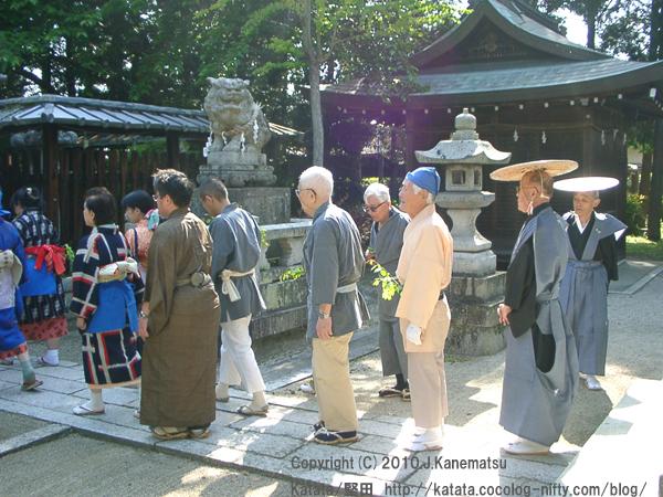 伊豆神社にて、神事待ち3