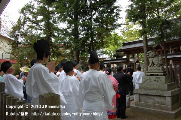 神田神社、献饌供御人行列の出発の朝