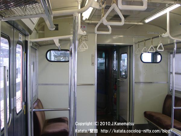 堅田駅で飛び込んだ、京都行き普通電車の車内