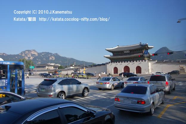 ソウルの朝、光化門付近