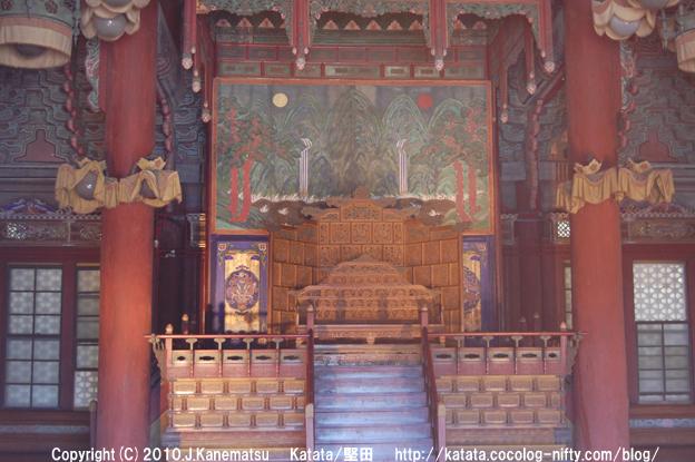 昌徳宮(仁政殿 玉座)