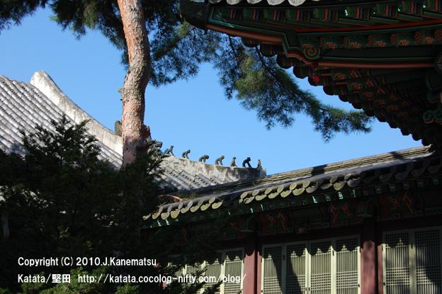 昌徳宮(西遊記の登場人物の石像)