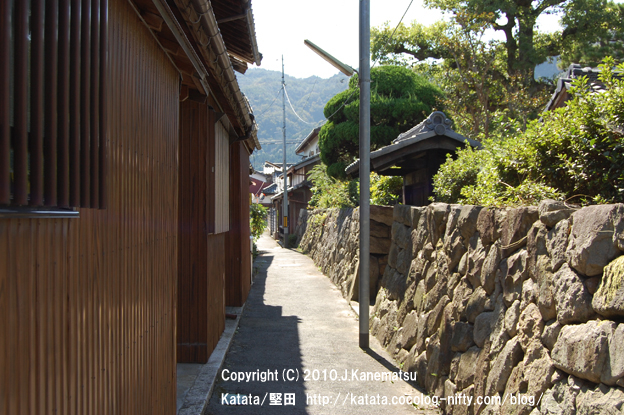 城下町・勝野の路地