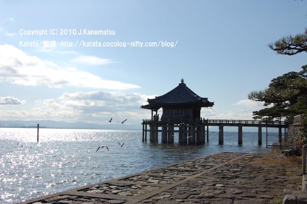 琵琶湖と浮御堂