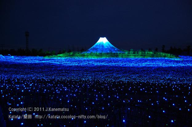 富士と海(青富士)