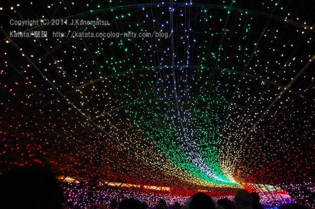 光のトンネル・虹(レインボー)上半分