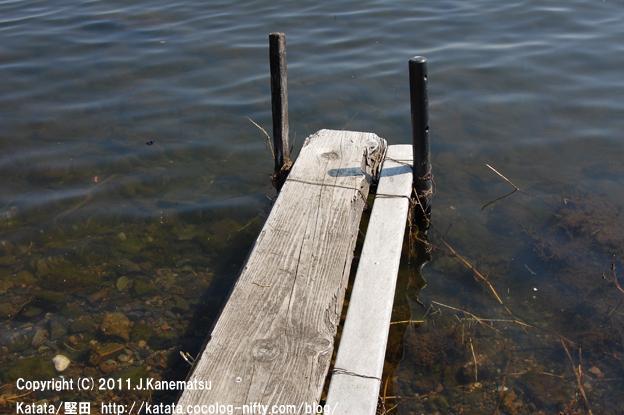 小さな渡し場から見た、春の琵琶湖(水ぬるむ頃に)1