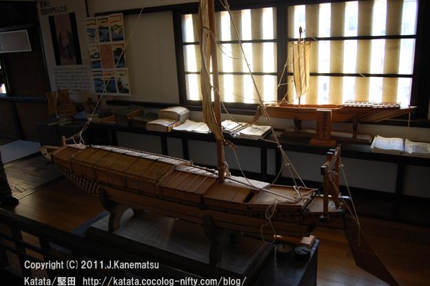 丸子船の模型