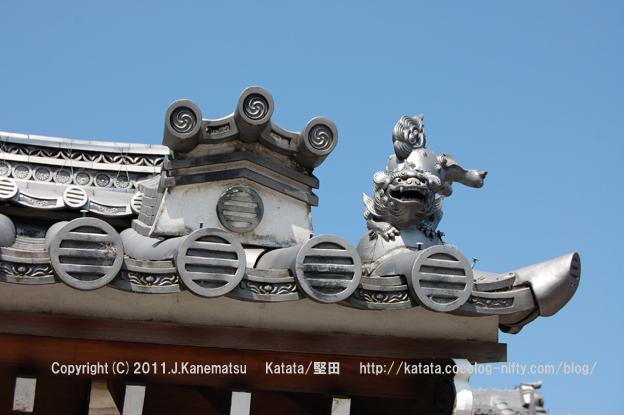 福聚禅院の獅子瓦