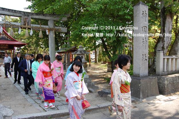 神田神社を出発 5