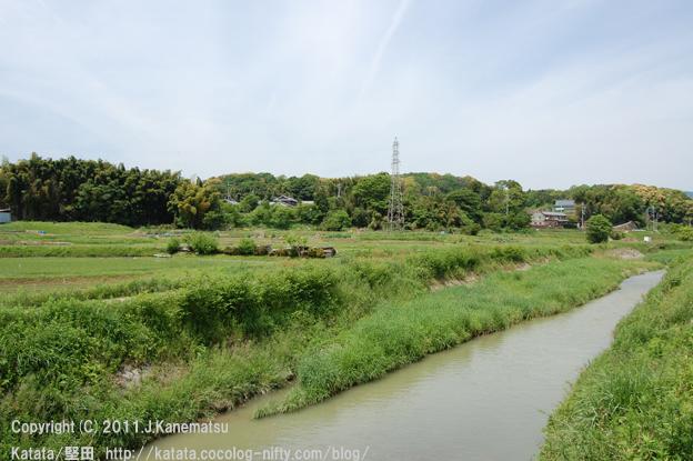真野川と、里山の風景(真野家田町付近)
