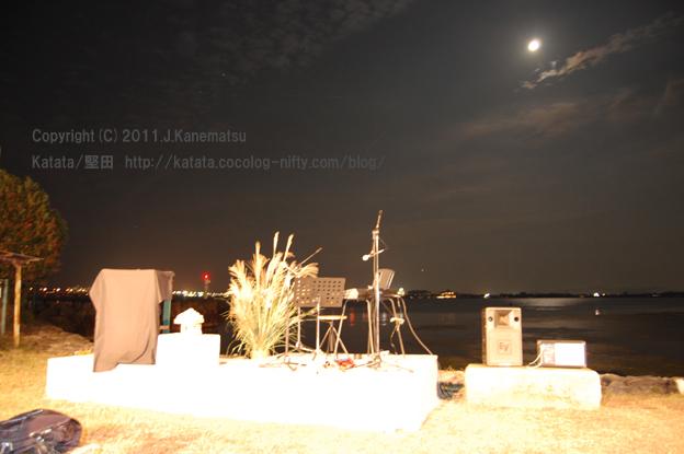 琵琶湖のほとりで撮影した、中秋の名月
