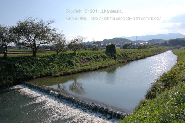 真野川の流れ