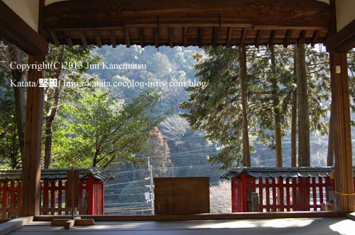 関蝉丸神社上社からの眺め