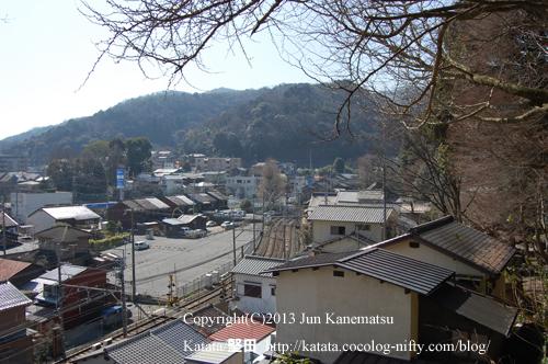長安寺から見た逢坂山の眺め