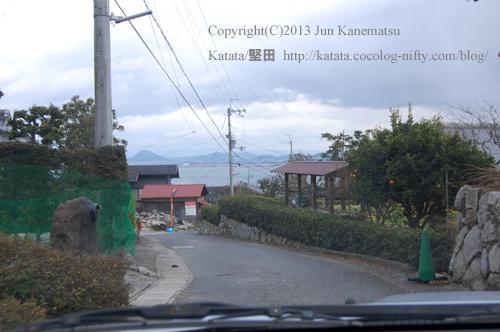 滋賀里の高台から見た琵琶湖と三上山