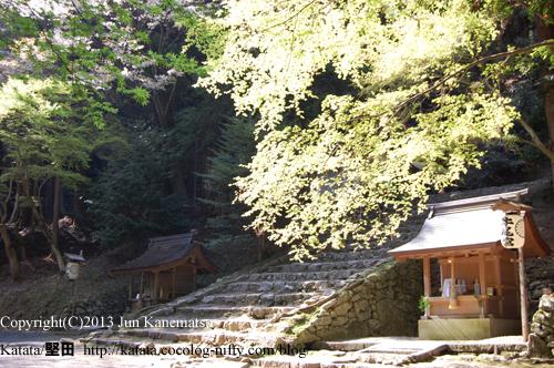 日吉大社境内、奥宮への登り口
