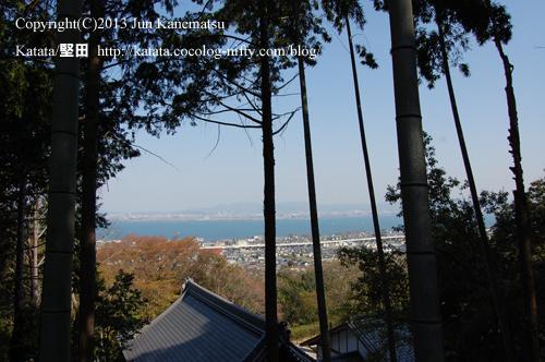 眼下に広がる琵琶湖(日吉東照宮の境内から)