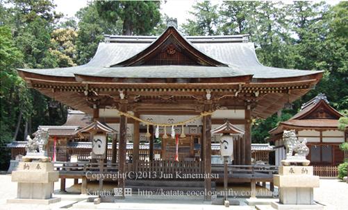 奥石神社拝殿