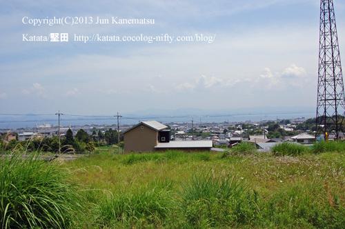 琵琶湖の見える高台(山の辺の道)