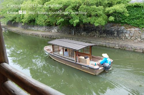 八幡堀めぐりの舟-1