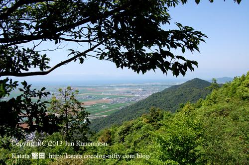 繖山(観音寺山)の上から撮影した安土
