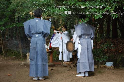 巫女さんによる神事-1(鞍掛神社例祭)