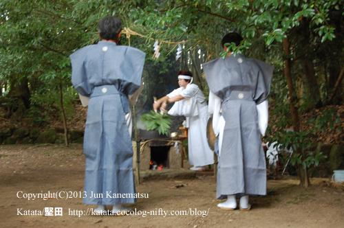 巫女さんによる神事-3(鞍掛神社例祭)
